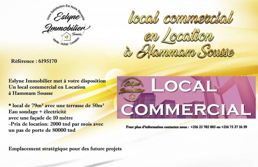Rental Premises Hammam Sousse